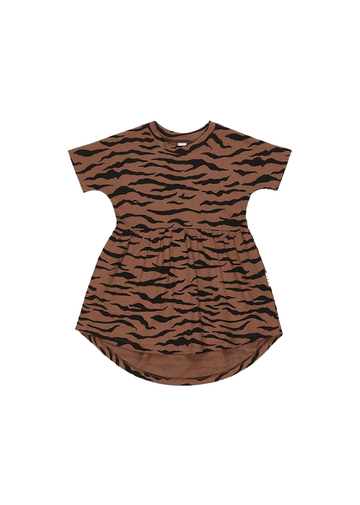 Tiger Swirl Dress dress Huxbaby