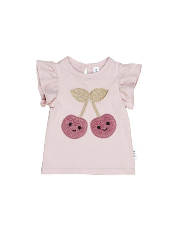 Cherry Frill T-shirt Top Huxbaby