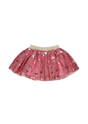 Gold Cherry Tulle Skirt Skirt Huxbaby