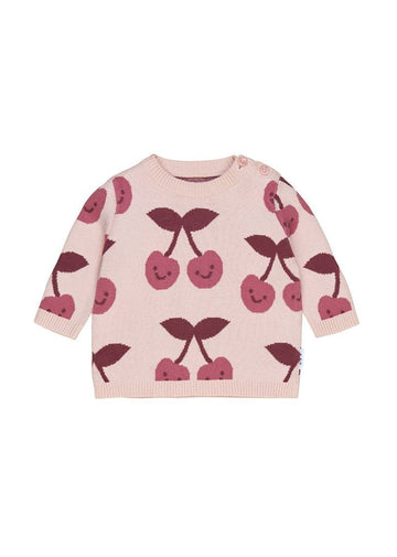 Cherry Knit Jumper Sweater Huxbaby