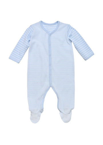 blue stripe footie Onesie Under the Nile