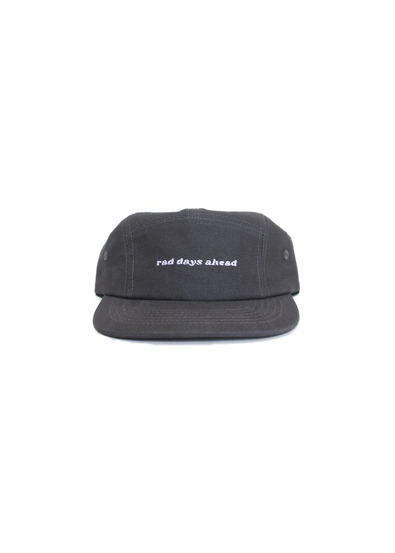 Rad Days Ahead Cotton Five-panel Hat - Charcoal Accessory Rad River Co.