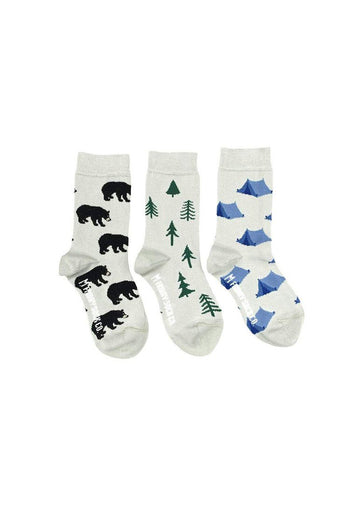 Tent, Tree & Bear Sock Set Accessory Friday Sock Co.