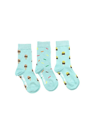 Ice Cream, Popsicle & Sprinkle Sock Set Accessory Friday Sock Co.