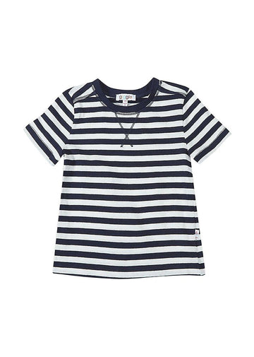 Reese Short Sleeve Tee - Navy/White Stripe tee Giggle