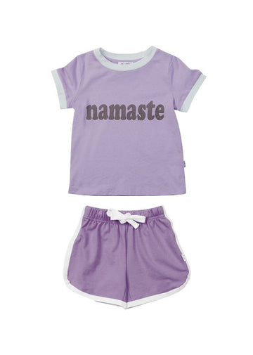 Dakota Retro Short Set - Lilac Set Giggle
