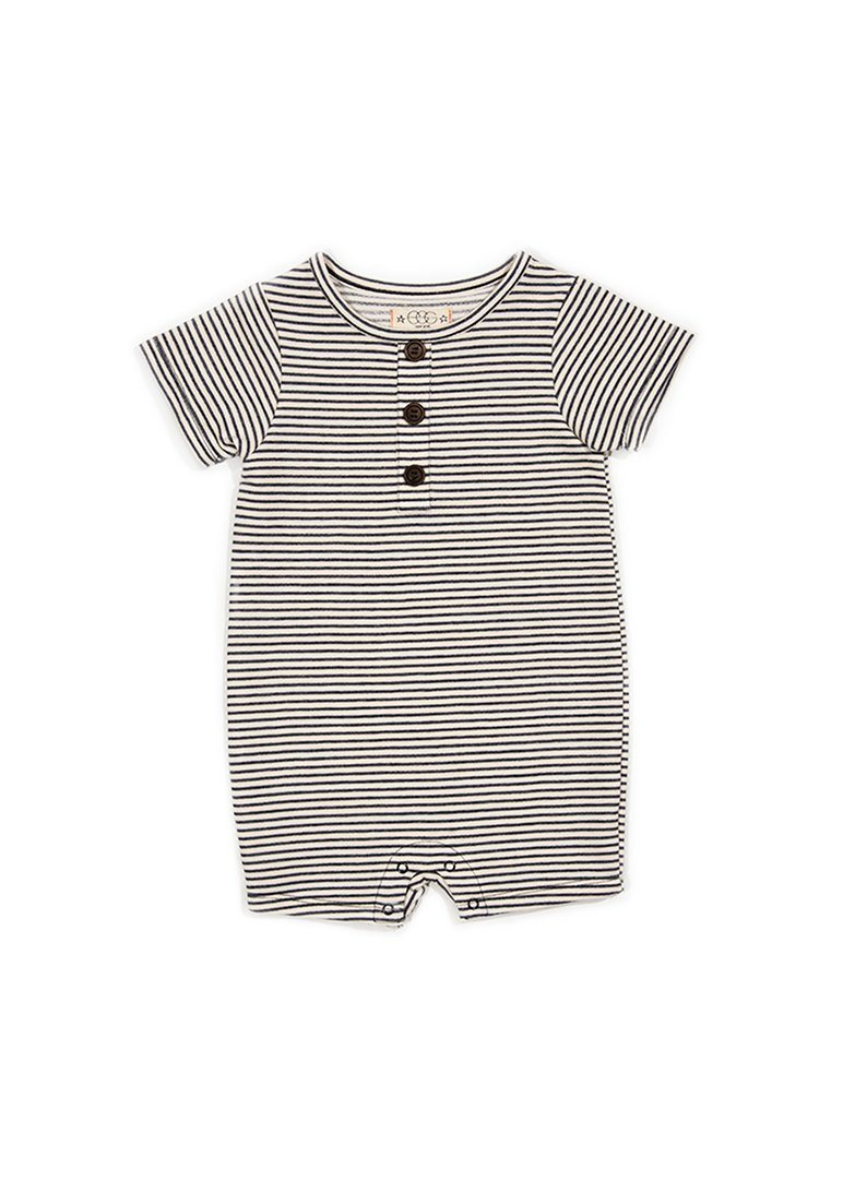 Ollie Romper - Blue Stripe Romper Egg New York