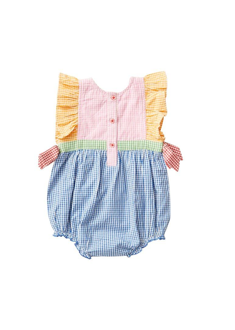 Amy Bubble Romper PINK CHICKEN