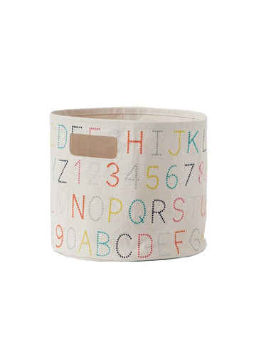 Printed Storage Pint - Alphabet Decor Pehr