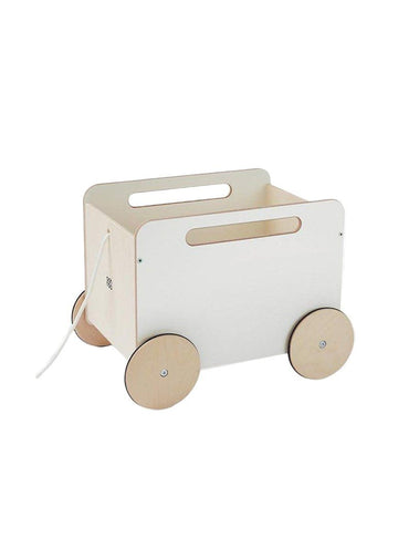 White Toy Chest on Wheels Toy Ooh Noo