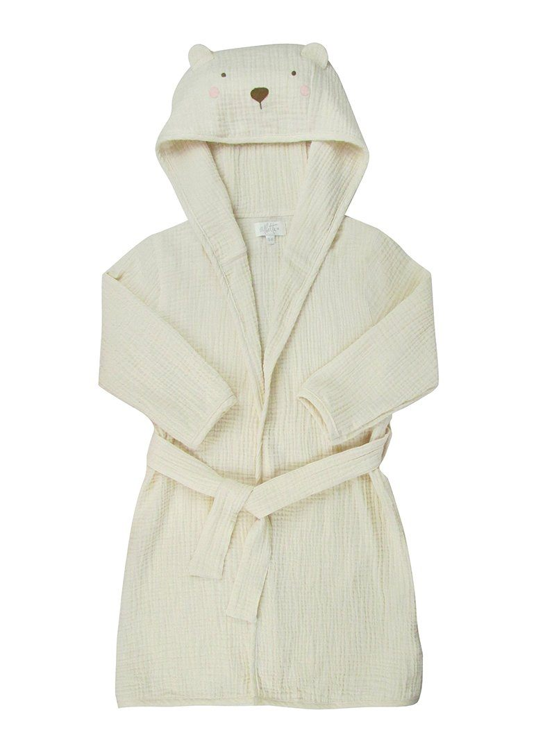 Bear Muslin Robe Bath Albetta
