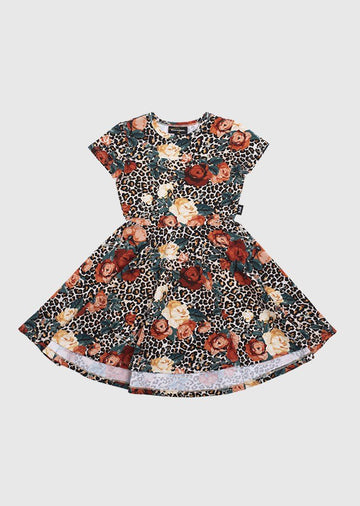 Rose Leopard Dress Dress Rock Your Baby