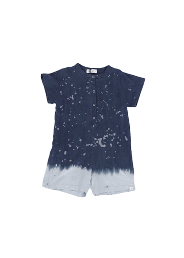 Roman Blue Splatter Romper Romper Little Moon Society