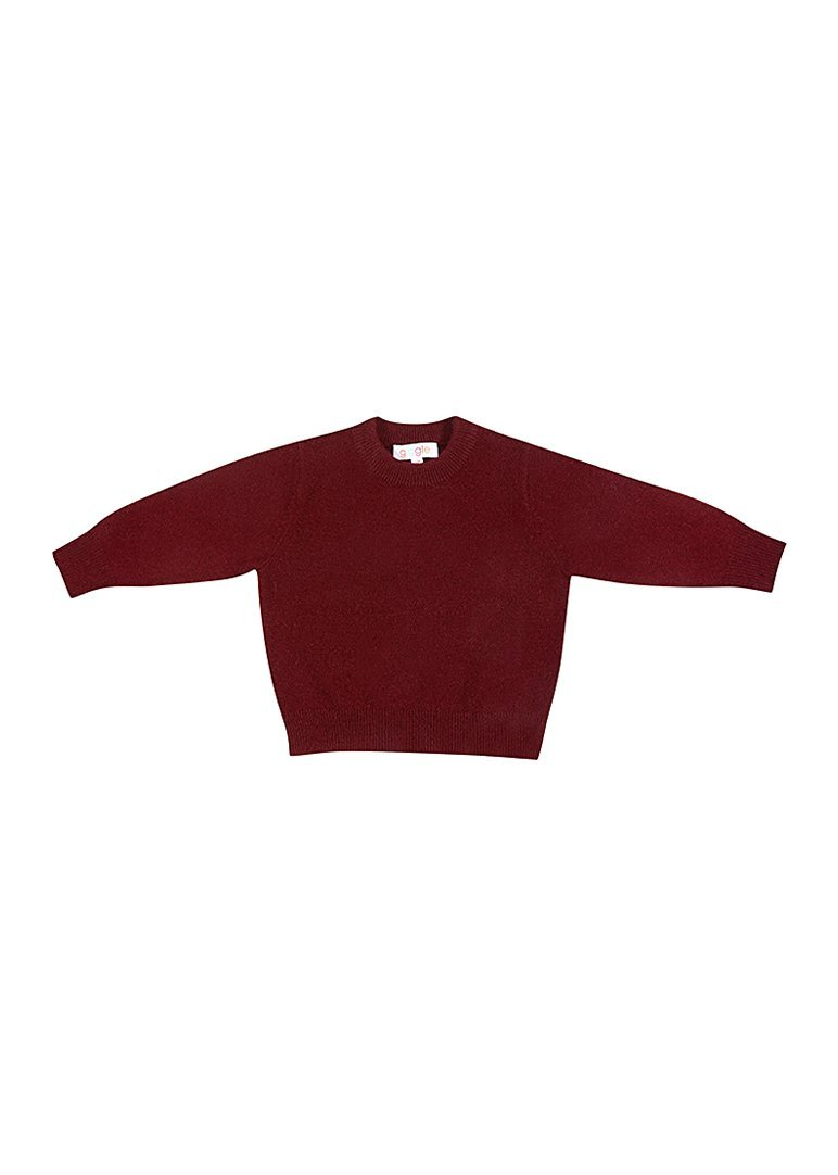 Rowan Cashmere Crew - Red Sweater Giggle