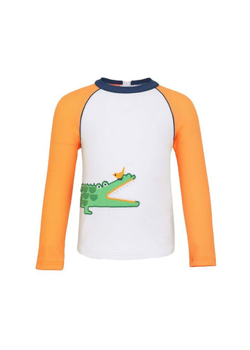 Crocodile Long Sleeve Rash Guard Swim Sunuva