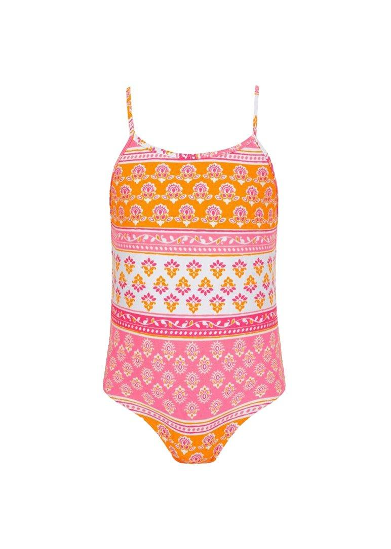 Block Print Strappy Swimsuit Swim Sunuva