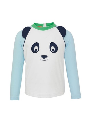 Panda Long Sleeve Raglan Rash Guard Swim Sunuva