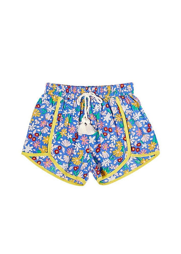 Millie Short - Palace Blue Multi Shorts PINK CHICKEN