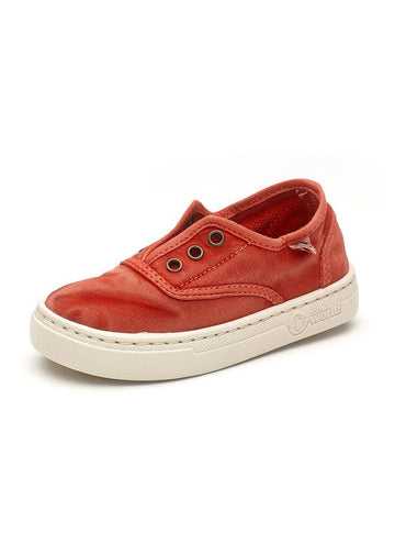 Old Ebro Laceless Sneaker - Red Shoes Natural World Eco