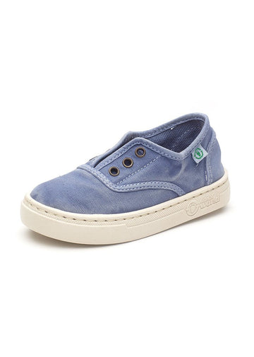 Old Ebro Laceless Sneaker - Denim Blue Shoes Natural World Eco