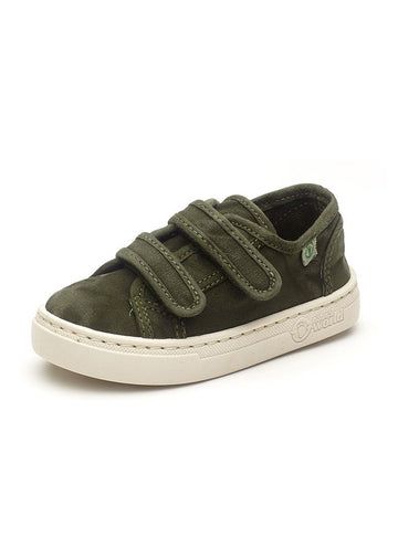 Old Leza Velcro Sneaker - Olive Green Shoes Natural World Eco