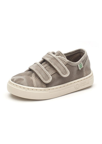 Old Leza Velcro Sneaker - Grey Shoes Natural World Eco