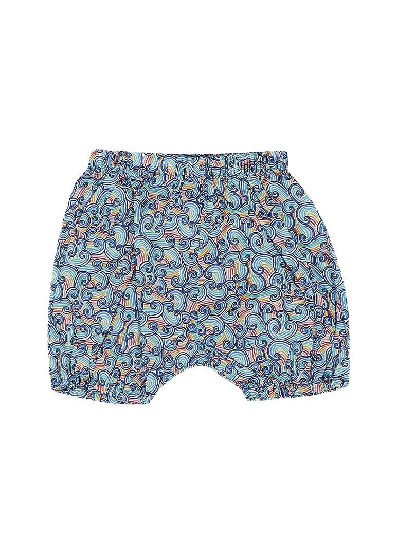 Shay Liberty Print Harem Short - Rainbow Wave Bottom Giggle