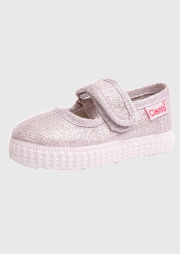 silver mary jane Shoes Cienta