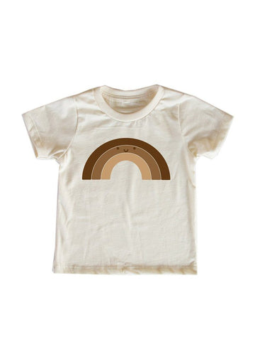 We See Color Rainbow Tee - Natural Top Mochi Kids