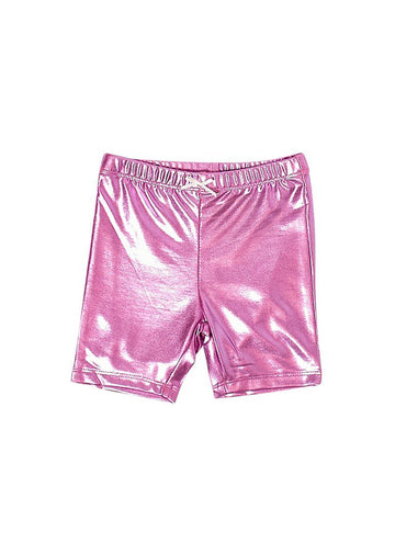 Lamé Bike Short Shorts PINK CHICKEN