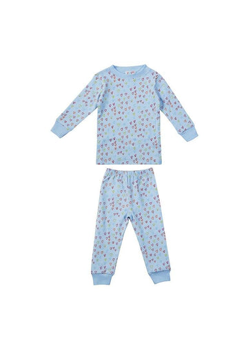 Sprinkle of Hearts Blue Pajama Pajamas giggle