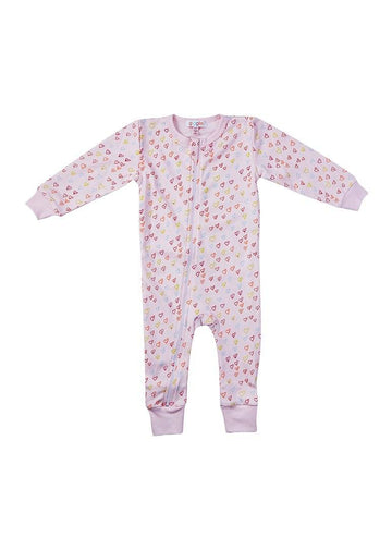 Sprinkle of Hearts Pink Onesie Pajamas giggle