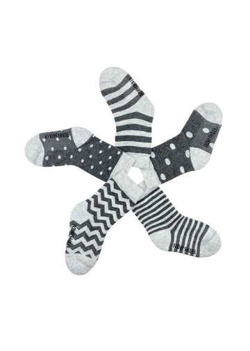 Stripes & Dots Baby Sock Set Accessory Friday Sock Co.