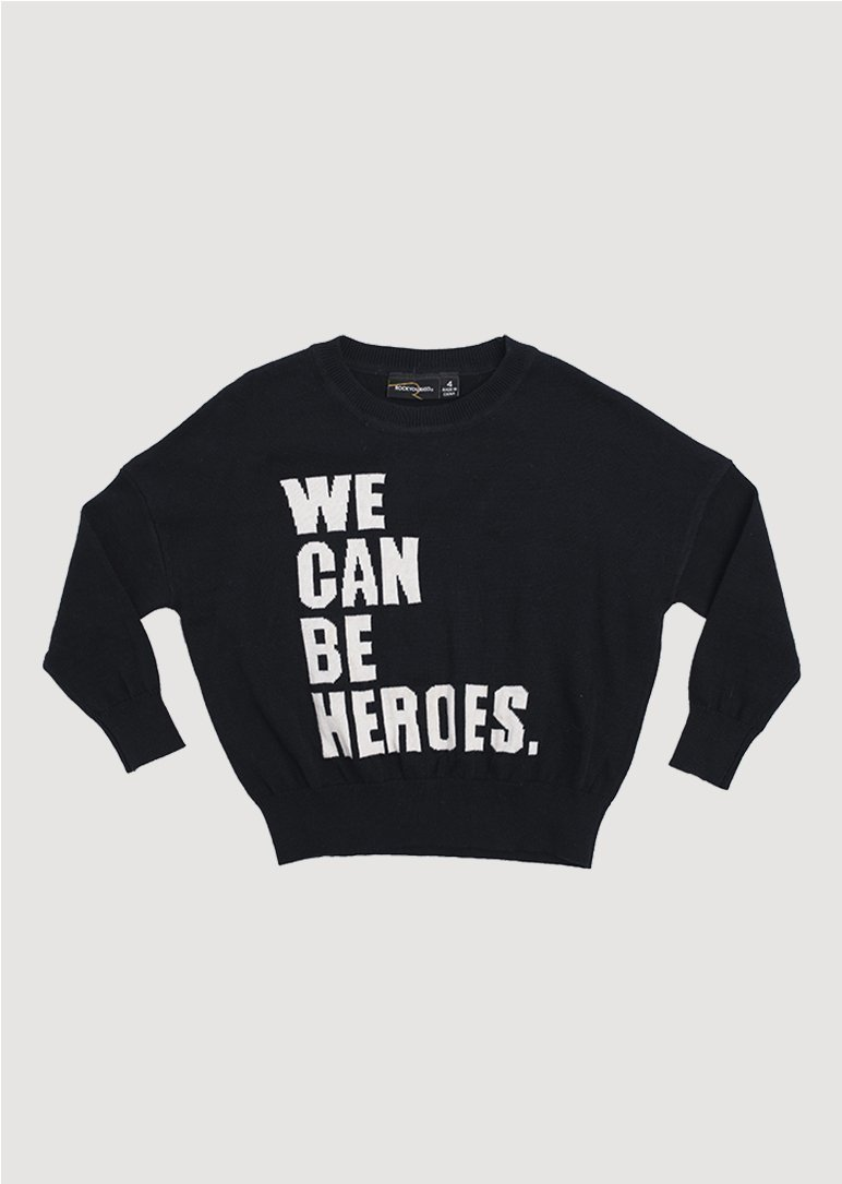 we can be heros knit pullover Sweater Rock Your Baby