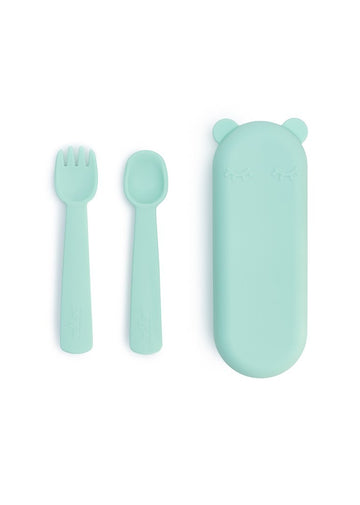 Feedie Fork & Spoon Set - Mint Feeding We Might Be Tiny