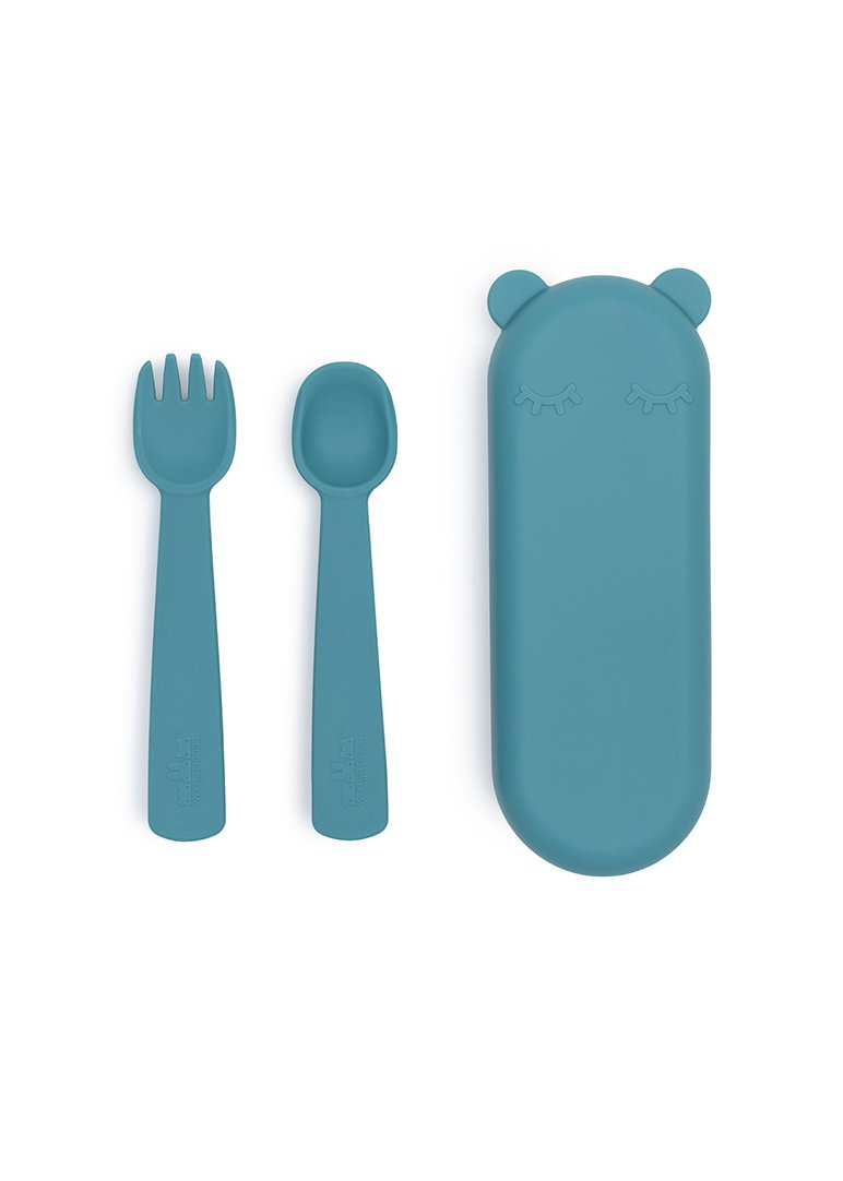 Feedie Fork & Spoon Set - Blue dusk Feeding We Might Be Tiny
