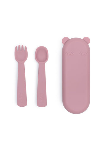 Feedie Fork & Spoon Set - Dusty Rose Feeding We Might Be Tiny