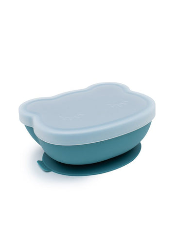 Bear Stickie Bowl with Lid - Blue dusk Feeding We Might Be Tiny
