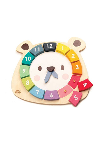 Bear Colors Clock Toy Tender Leaf Toys