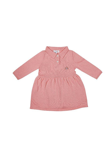 Thea Polo Sweater Dress - Pink Dress Giggle