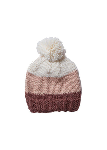 Tri Color Hat - Mauve Accessory The Blueberry Hill