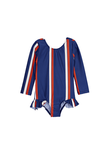Stripe Longsleeve Swimsuit Swim Mini Rodini