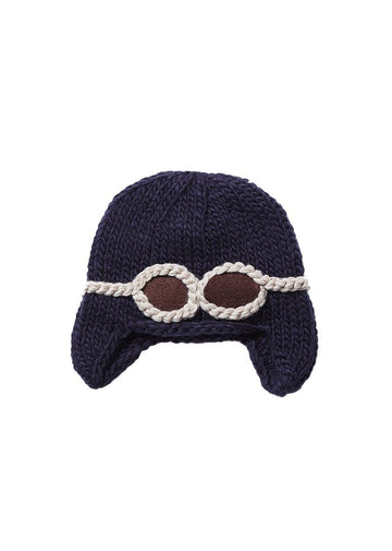 Wilbur Aviator with Goggles Knit Hat Accessory The Blueberry Hill
