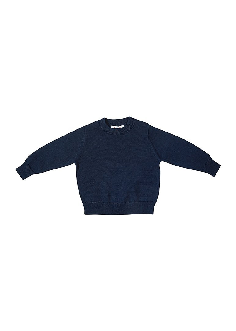 Waverly Cotton Crew - Navy Top Giggle