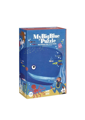 My Big Blue Puzzle - 36 pcs Toy Londji