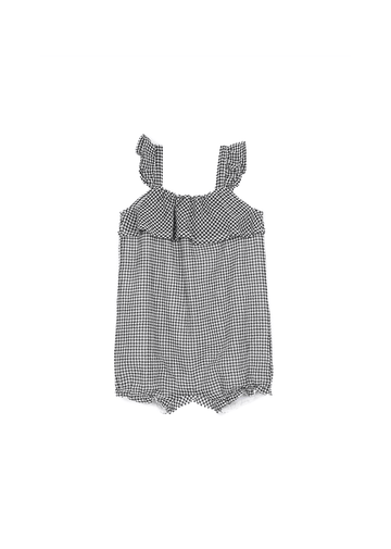 black checkered playsuit Onesie Emile et Ida