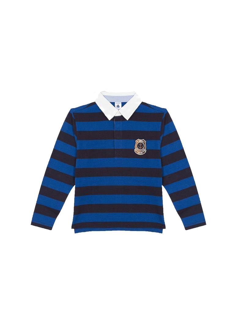 long sleeve striped polo Top Petit Bateau