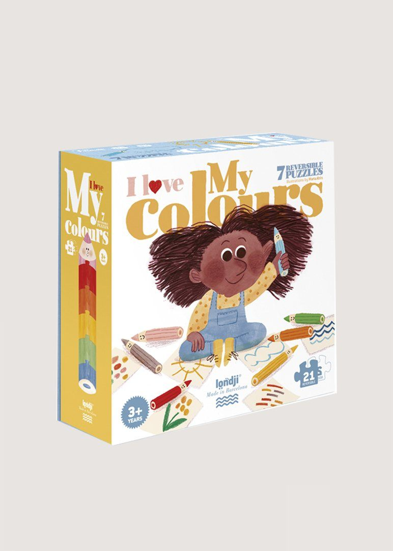 I Love My Colors Puzzle - 21 pcs Toy Londji