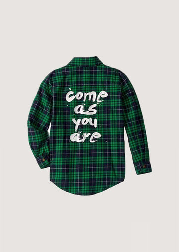 Come As You Are Shirt - Green Tee Rock Your Baby