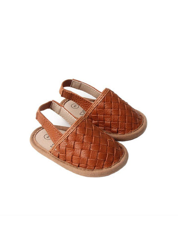 Woven Leather Baby Sandals - Tawny Shoes Babe Basics